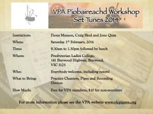 1st Feb- VPA Workshop